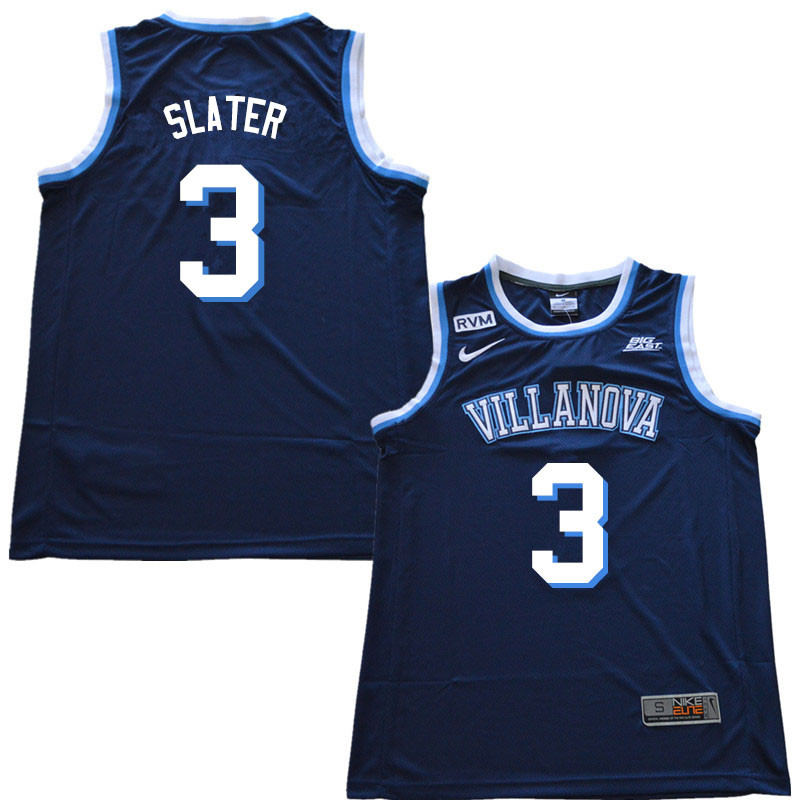 2018 Men #3 Brandon Slater Villanova Wildcats College Basketball Jerseys Sale-Navy