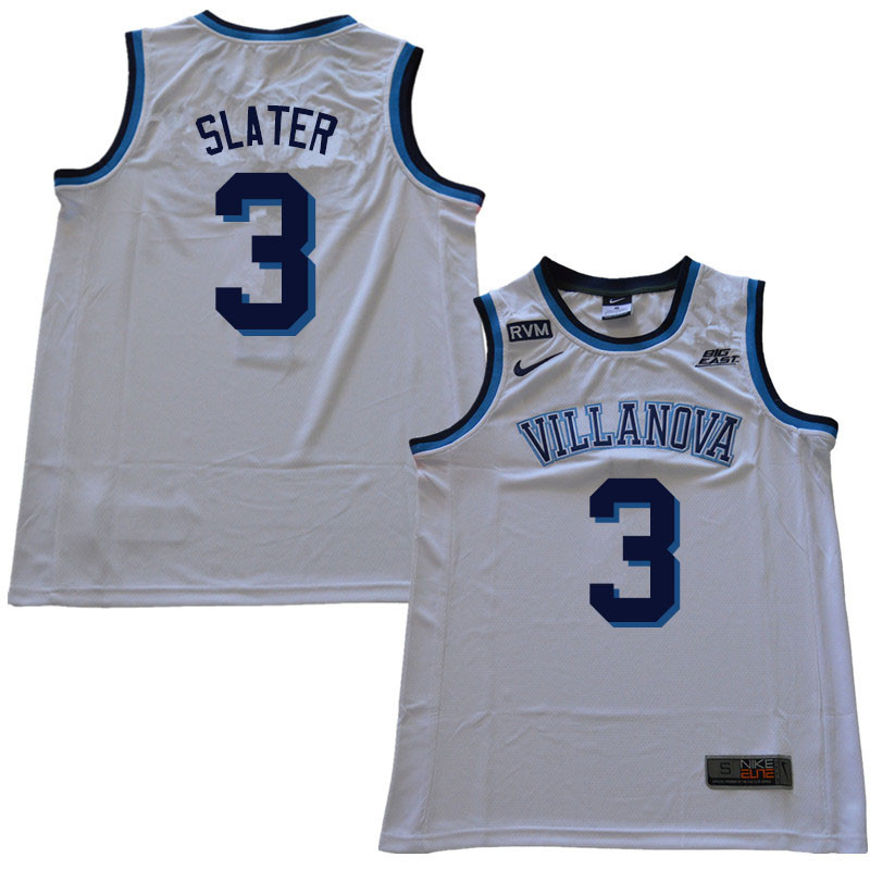 2018 Men #3 Brandon Slater Villanova Wildcats College Basketball Jerseys Sale-White