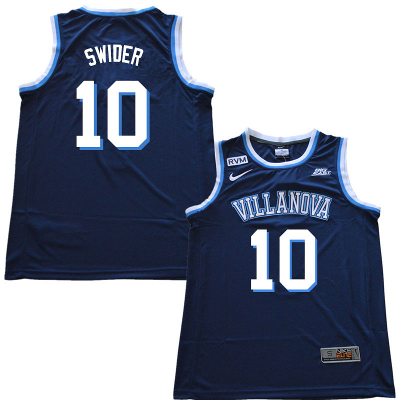 2018 Men #10 Cole Swider Villanova Wildcats College Basketball Jerseys Sale-Navy