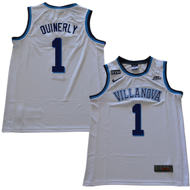 2018 Men #1 Jahvon Quinerly Villanova Wildcats College Basketball Jerseys Sale-White