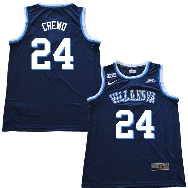 2018 Men #24 Joe Cremo Villanova Wildcats College Basketball Jerseys Sale-Navy