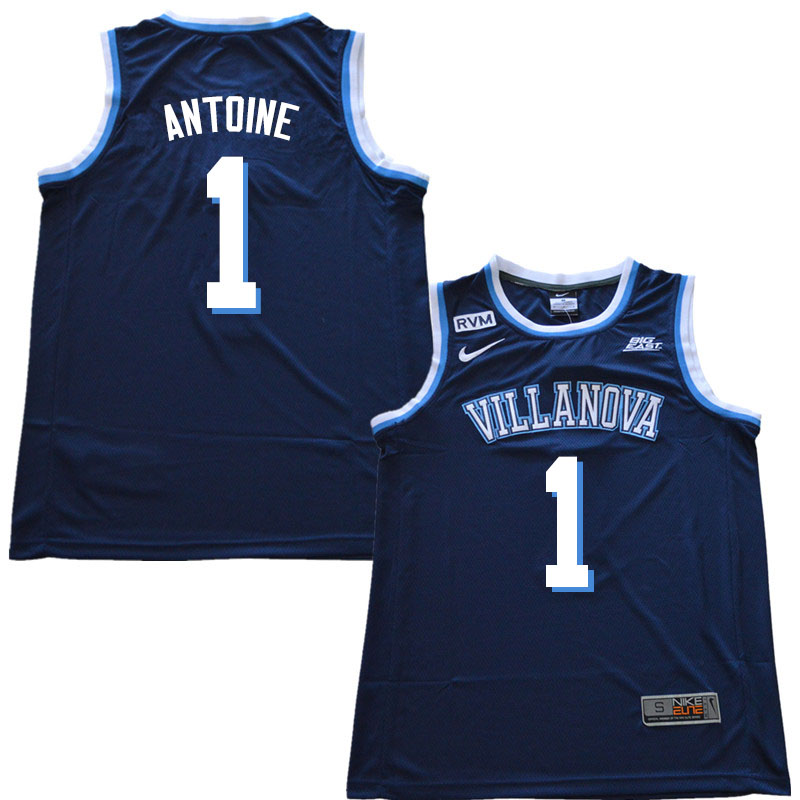 2019 Men #1 Bryan Antoine Villanova Wildcats College Basketball Jerseys Sale-Navy