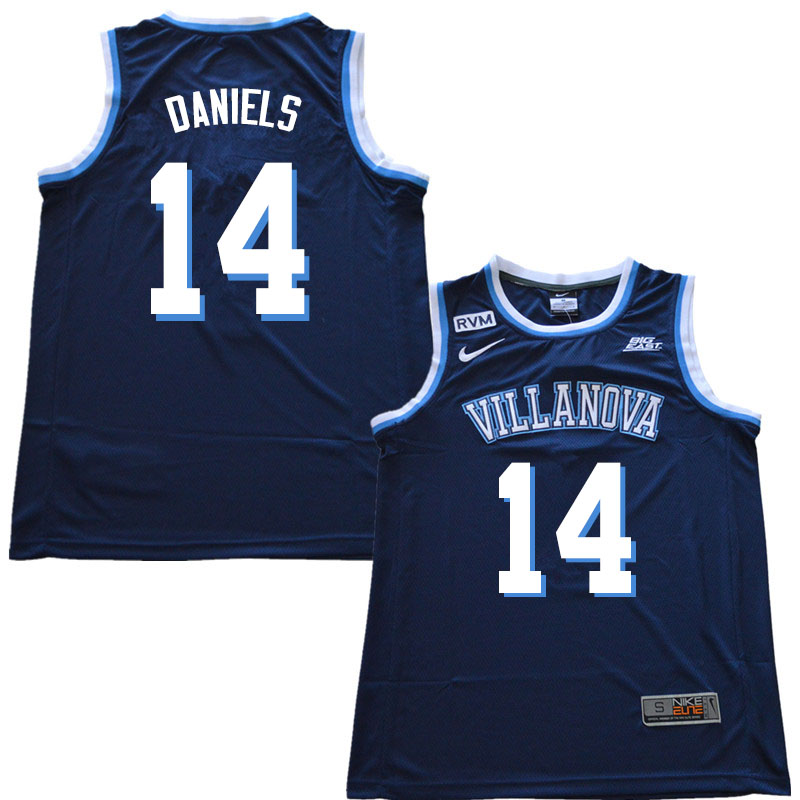 2019 Men #14 Caleb Daniels Villanova Wildcats College Basketball Jerseys Sale-Navy