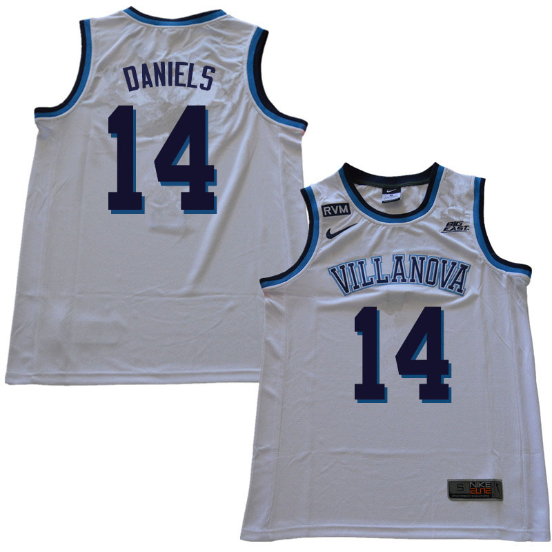 2019 Men #14 Caleb Daniels Villanova Wildcats College Basketball Jerseys Sale-White
