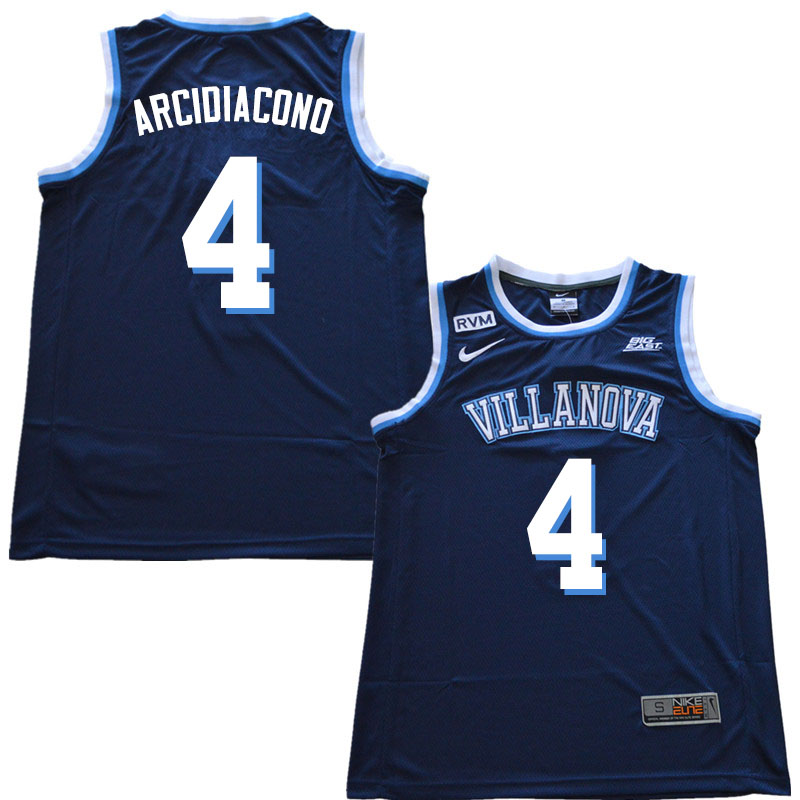 2019 Men #4 Chris Arcidiacono Villanova Wildcats College Basketball Jerseys Sale-Navy