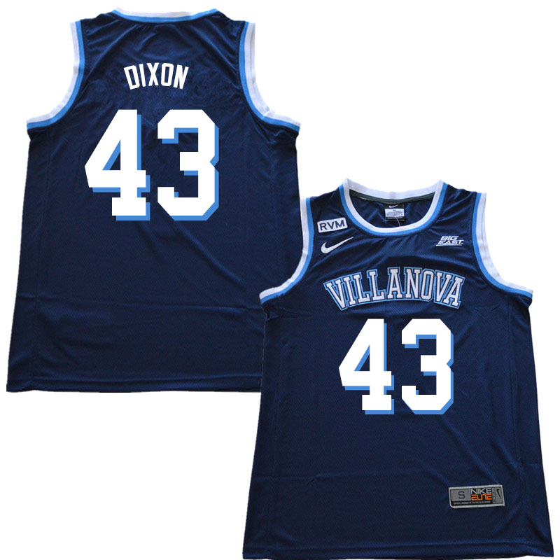 2019 Men #43 Eric Dixon Villanova Wildcats College Basketball Jerseys Sale-Navy