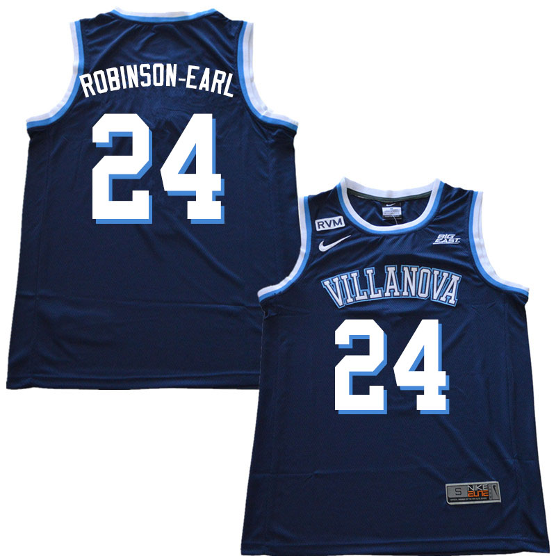 2019 Men #24 Jeremiah Robinson-Earl Villanova Wildcats College Basketball Jerseys Sale-Navy
