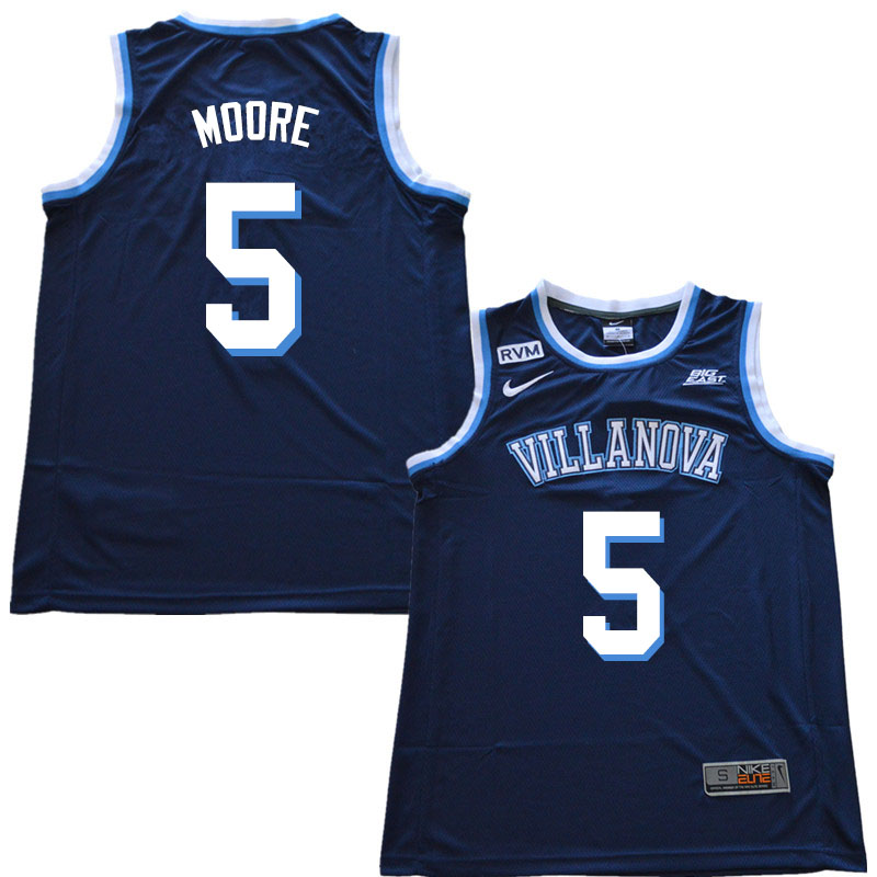 2019 Men #5 Justin Moore Villanova Wildcats College Basketball Jerseys Sale-Navy