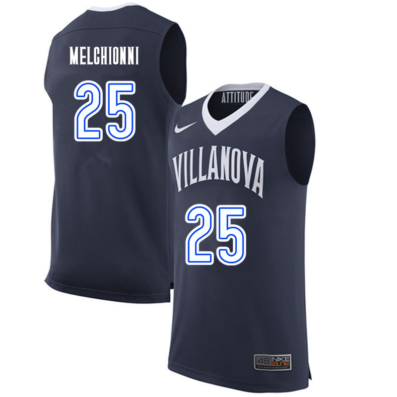 Men #25 Bill Melchionni Villanova Wildcats College Basketball Jerseys-Navy