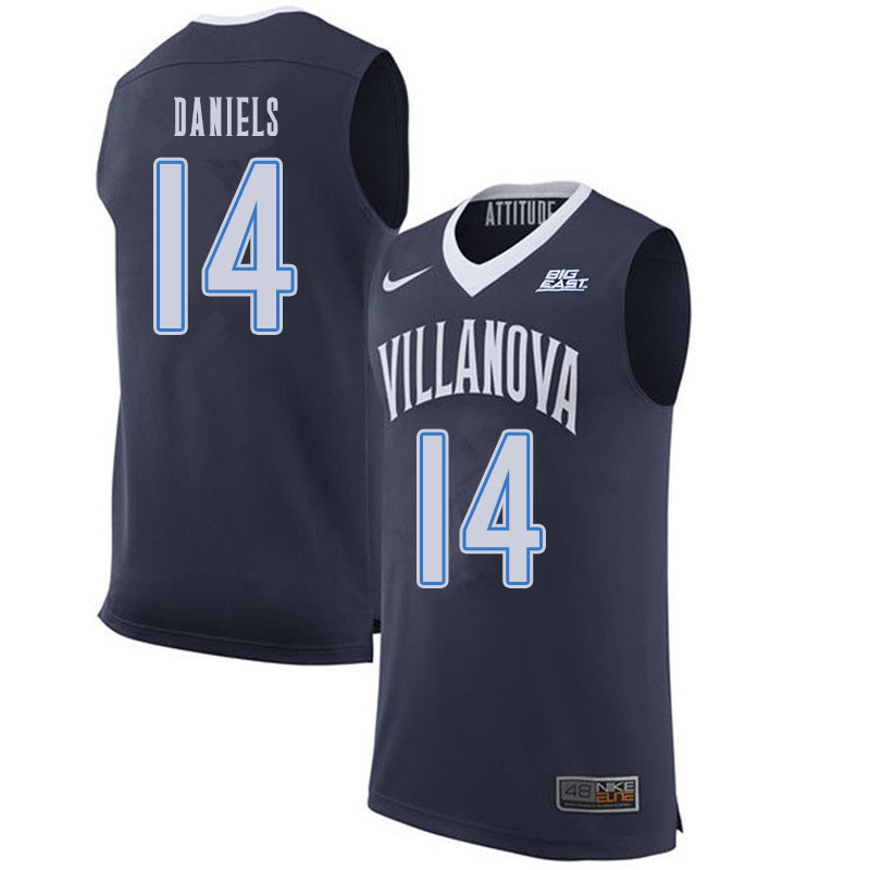 Men #14 Caleb Daniels Villanova Wildcats College Basketball Jerseys Sale-Navy