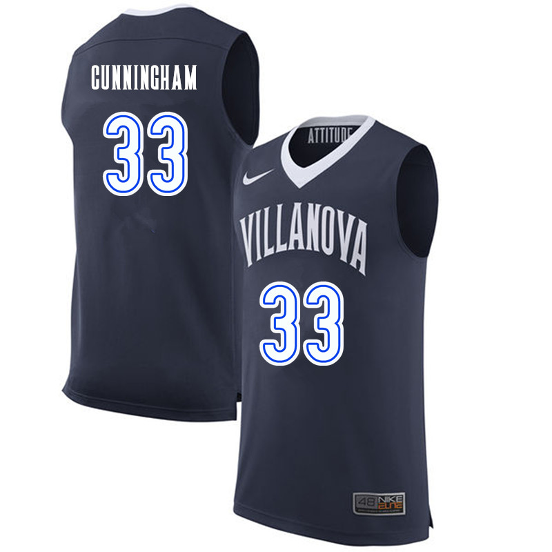 Men #33 Dante Cunningham Villanova Wildcats College Basketball Jerseys-Navy