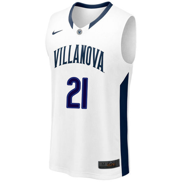 Men #21 Dhamir Cosby-Roundtree Villanova Wildcats College Basketball Jerseys Sale-White