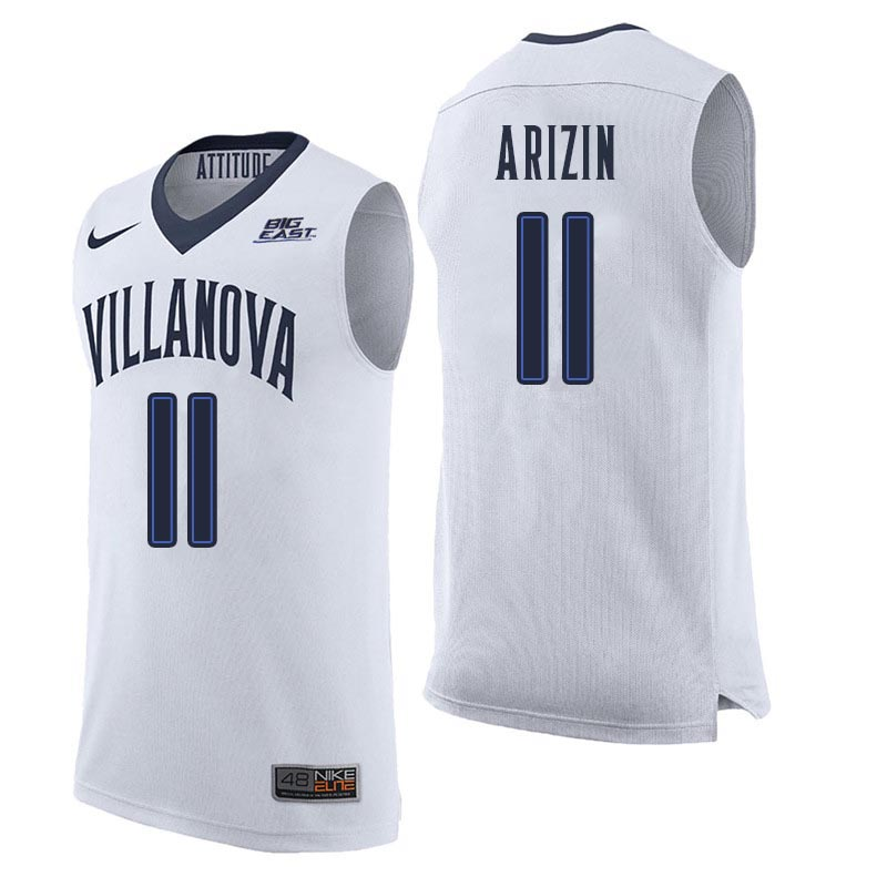 Men Villanova Wildcats #11 Paul Arizin College Basketball Jerseys Sale-White