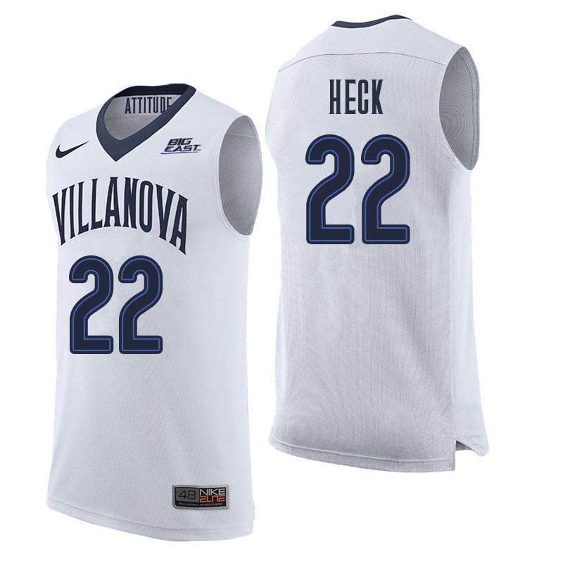 Men Villanova Wildcats #22 Peyton Heck College Basketball Jerseys Sale-White