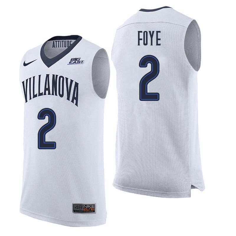 Men Villanova Wildcats #2 Randy Foye College Basketball Jerseys Sale-White