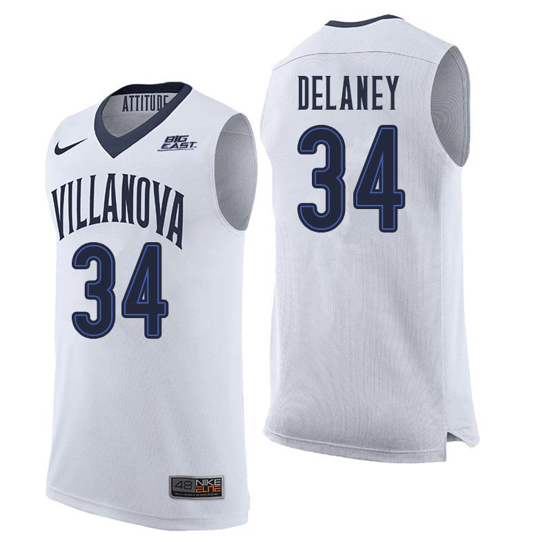 Men Villanova Wildcats #34 Tim Delaney College Basketball Jerseys Sale-White