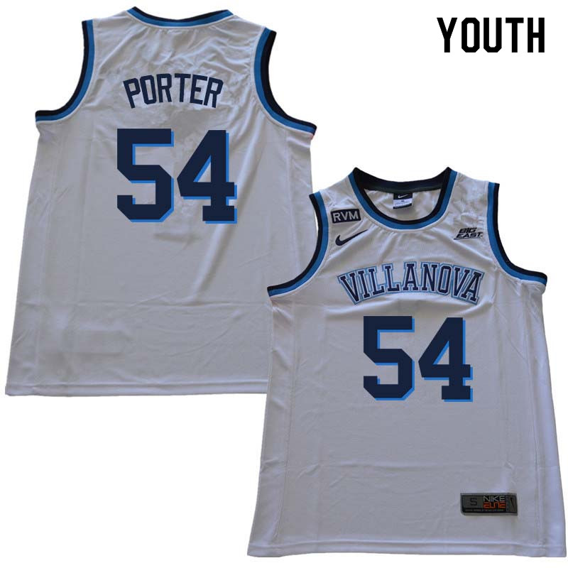 2018 Youth #54 Howard Porter Willanova Wildcats College Basketball Jerseys Sale-White